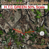 TRUE TIMBER HTC GREEN 50% SCALE HYDROGRAPHIC FILM