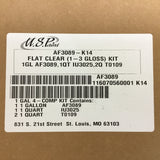 US PAINT FLAT CLEAR (1-3 GLOSS) KIT AF3089-K14