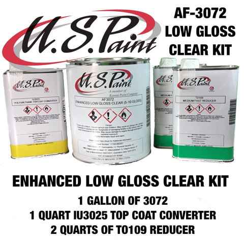 US PAINT ENHANCED LOW GLOSS CLEAR KIT (5-10 GLOSS)  AF3072