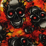 FLAMING RED EYED SKULLS