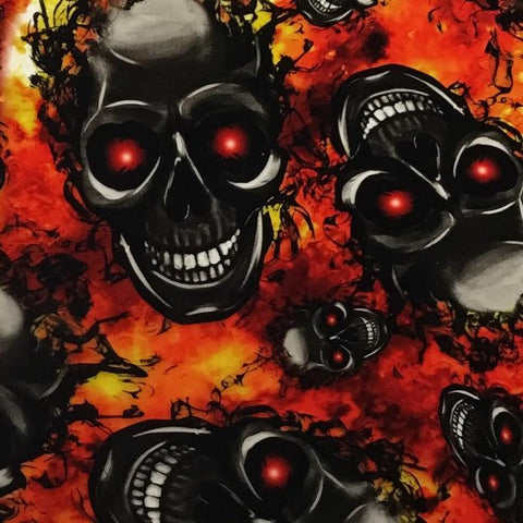 DIP WIZARD HYDROGRAPHIC DIP KIT FLAMING RED EYED SKULLS