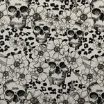 BLACK/CLEAR FLOWER CHEETAH SKULLS