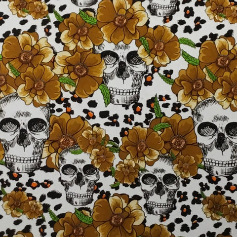 GOLD FLOWER CHEETAH SKULLS