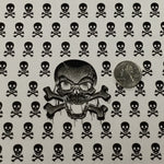 BLACK/CLEAR SKULLS & CROSSBONES