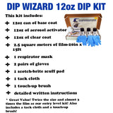 DIP WIZARD HYDROGRAPHIC DIP KIT MINI BLACK/CLEAR FLAMES
