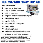 DIP WIZARD HYDROGRAPHIC DIP KIT SILVER/CLEAR CARBON FIBER 35