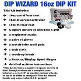 DIP WIZARD HYDROGRAPHIC DIP KIT MINI CHARCOAL/CLEAR METALLIC CARBON FIBER WEAVE