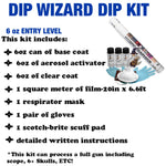 DIP WIZARD HYDROGRAPHIC DIP KIT SILVER/CLEAR CARBON FIBER 12