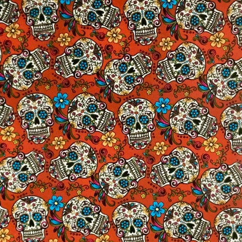 RED MARDI GRAS SUGAR SKULLS