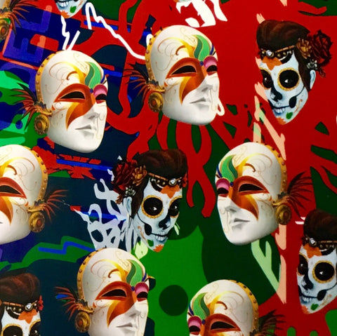 COLOR SPLASH DAY OF THE DEAD MASKS