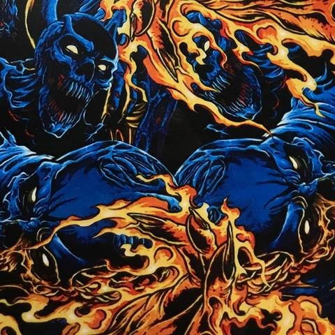 DIP WIZARD HYDROGRAPHIC DIP KIT FLAMING BLUE DEMONS