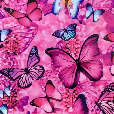 PINK & BLUE BUTTERFLIES
