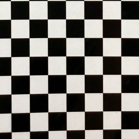 BLACK/CLEAR CHECKER BOARD
