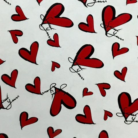 BLACK OUTLINE HEARTS