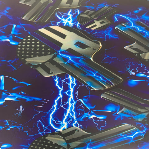 BLUE LINE ELECTRIC PUNISHER SKULLS HYDROGRAPHIC FILM