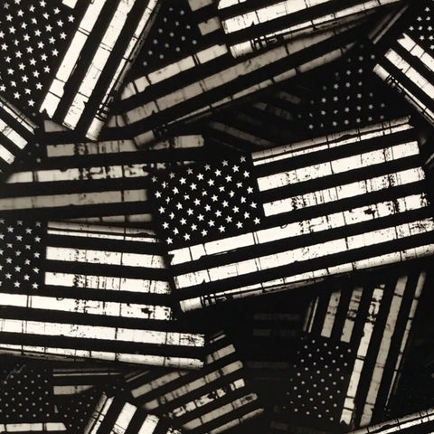 GARRISON AMERICAN FLAGS HYDROGRAPHIC FILM BLACK AND CLEAR