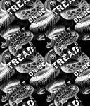 DONT TREAD ON ME EXTREME BLACK/CLEAR  HYDROGRAPHIC FILM