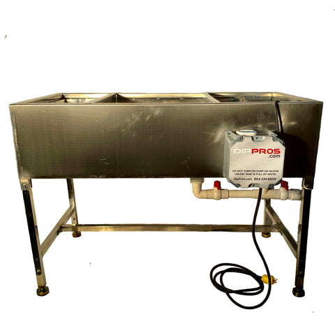 4' FOOT STAINLESS HYDROGRAPHIC WATER TRANSFER HYDRO DIP TANK