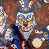 CREEPY CIRCUS CLOWN HYDROGRAPHIC FILM