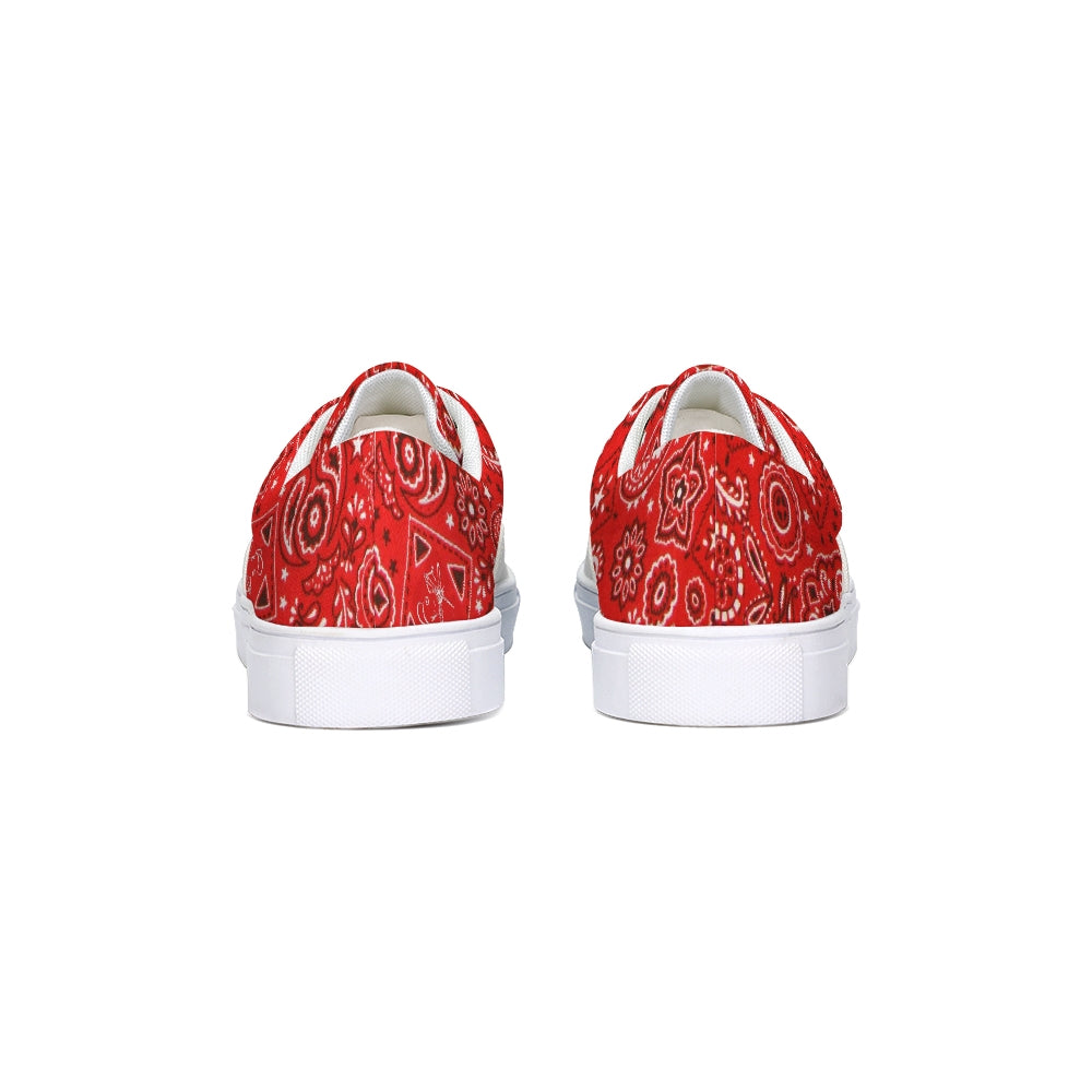 Paisley  Lace Up Canvas Shoe