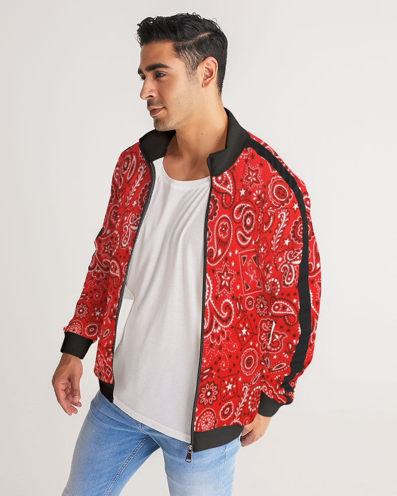 Paisley  Men's Stripe-Sleeve Track Jacket