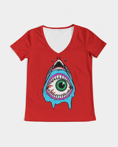Shark Women's V-Neck Tee