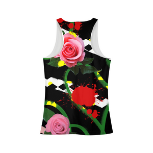 Pink Floral Women's Tank