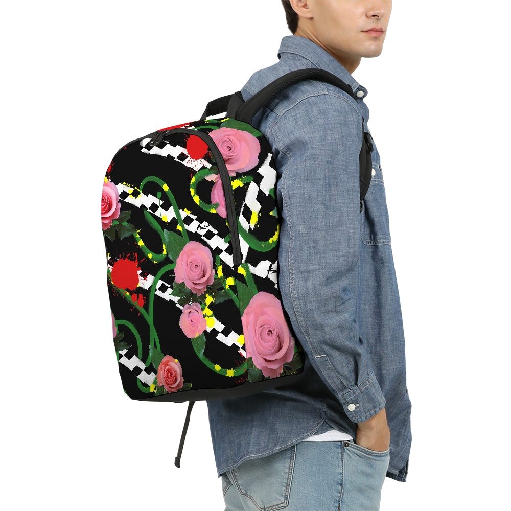 Pink Floral Large Backpack