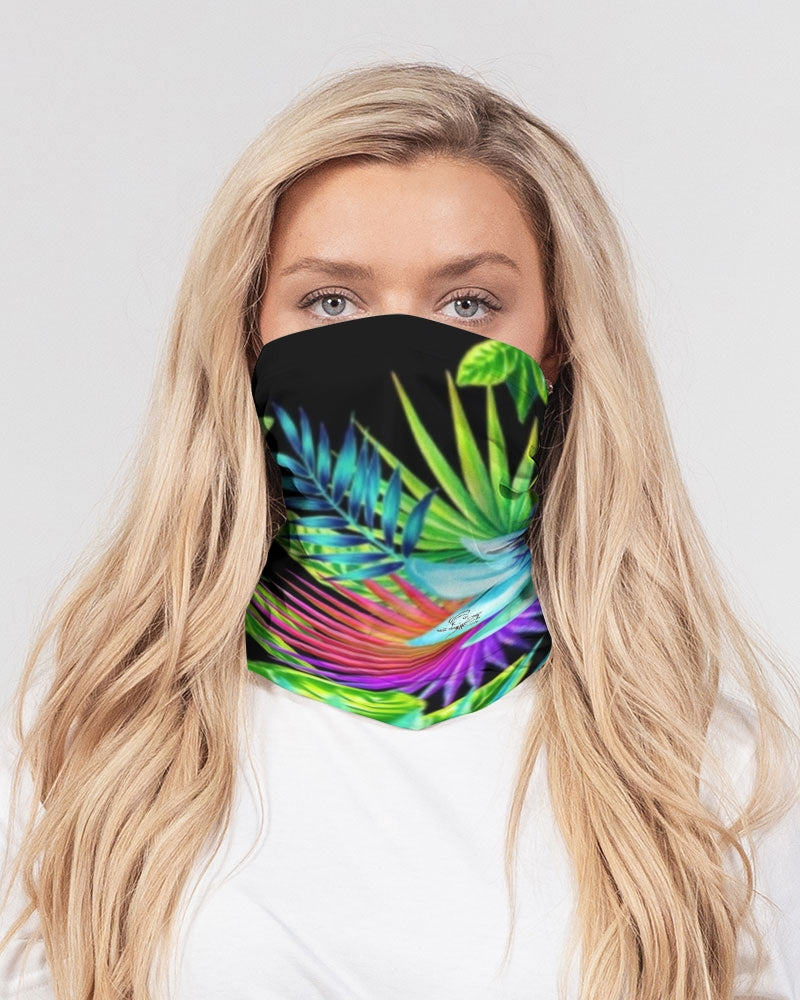 Neon Floral Neck Gaiter/headband Set of 3