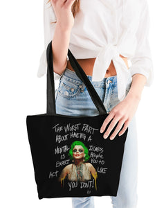 Mental Canvas Zip Tote Bag