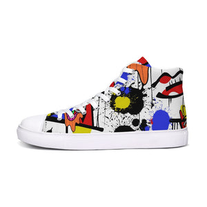 The Eye Print Hightop Canvas Shoe