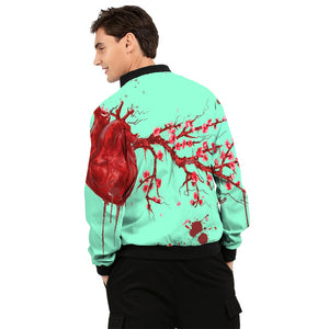 Heart Blossom Men's Windbreaker