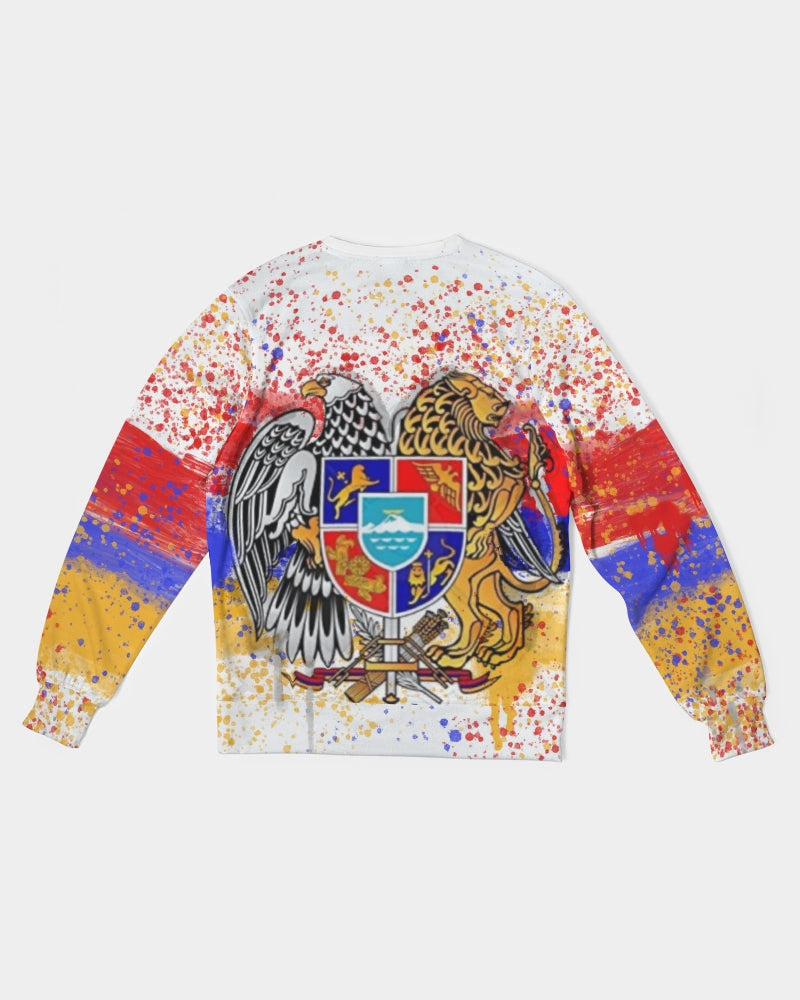Armenian  Men's Classic French Terry Crewneck Pullover