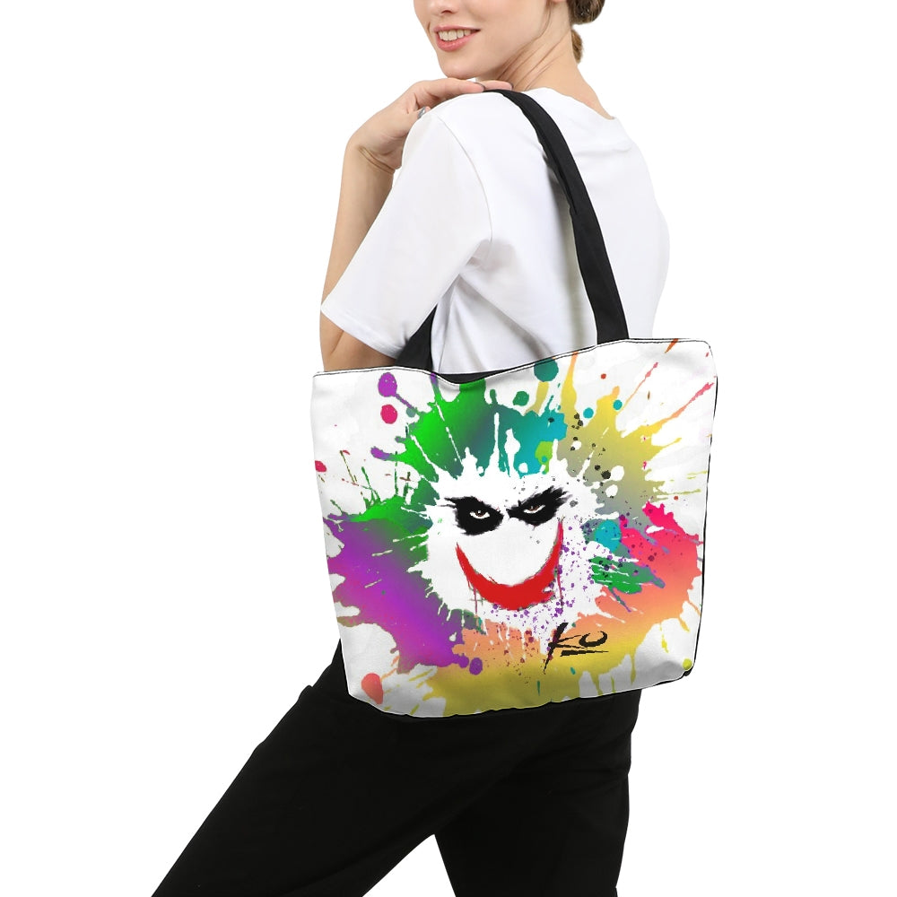 Smile Canvas Zip Tote Bag