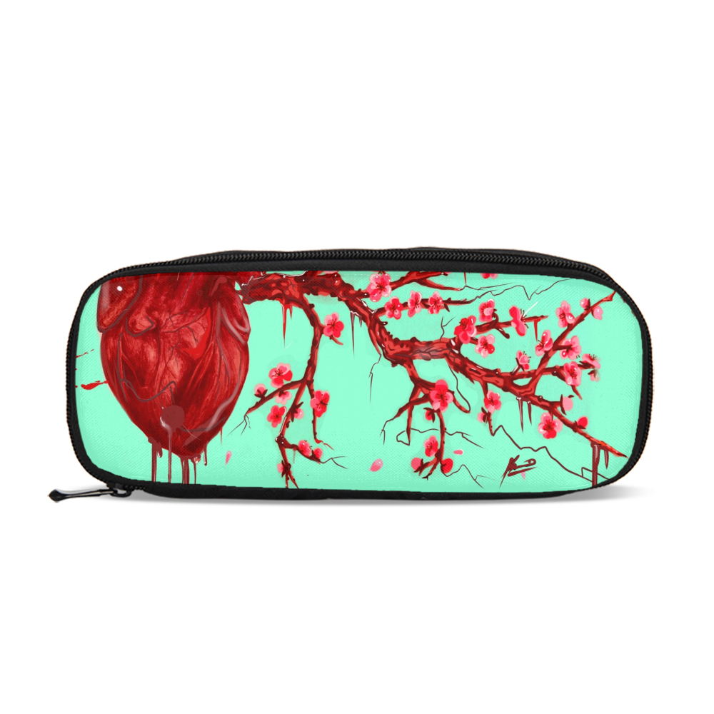 Heart Blossom Pencil Case