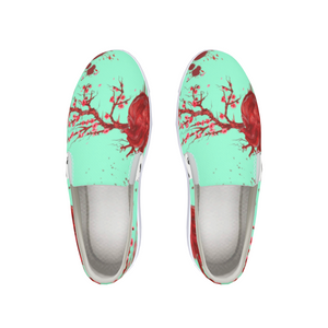 Heart Blossom Slip-On Canvas Shoe