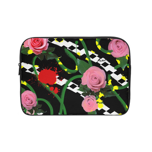 Pink Floral Laptop Sleeve