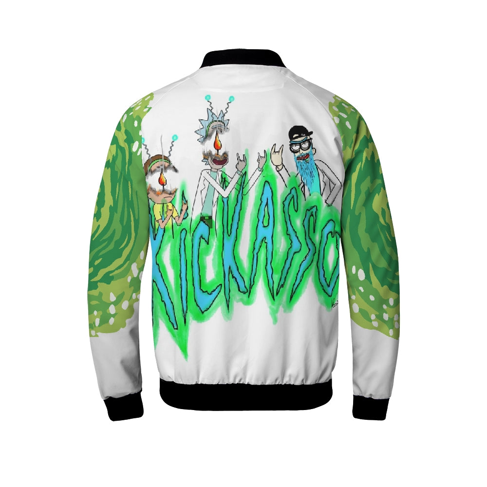 Mind Blown Kickasso Rick and Morty Men's Windbreaker