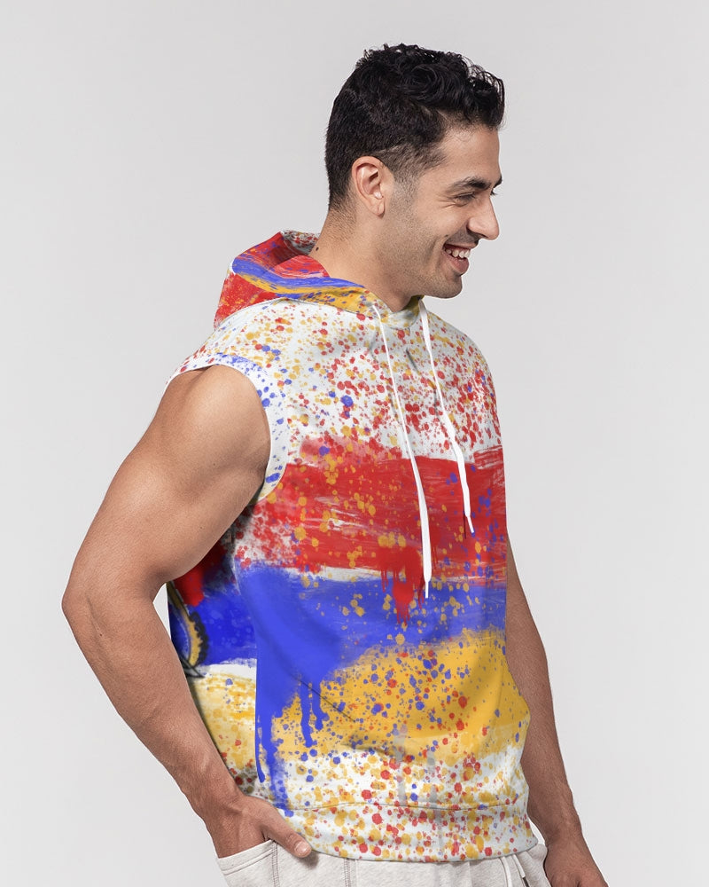 Armenian  Men's Premium Heavyweight Sleeveless Hoodie