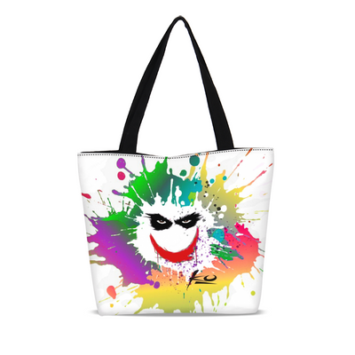 Smile Canvas Zip Tote