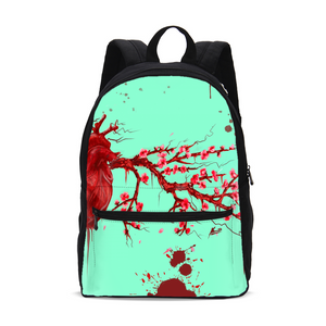 Heart Blossom Small Canvas Backpack