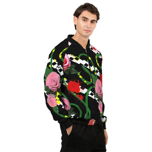 Pink Floral Men's Windbreaker