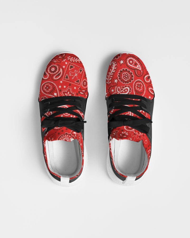 K_o 2 Red Paisley Men's Two-Tone Sneaker