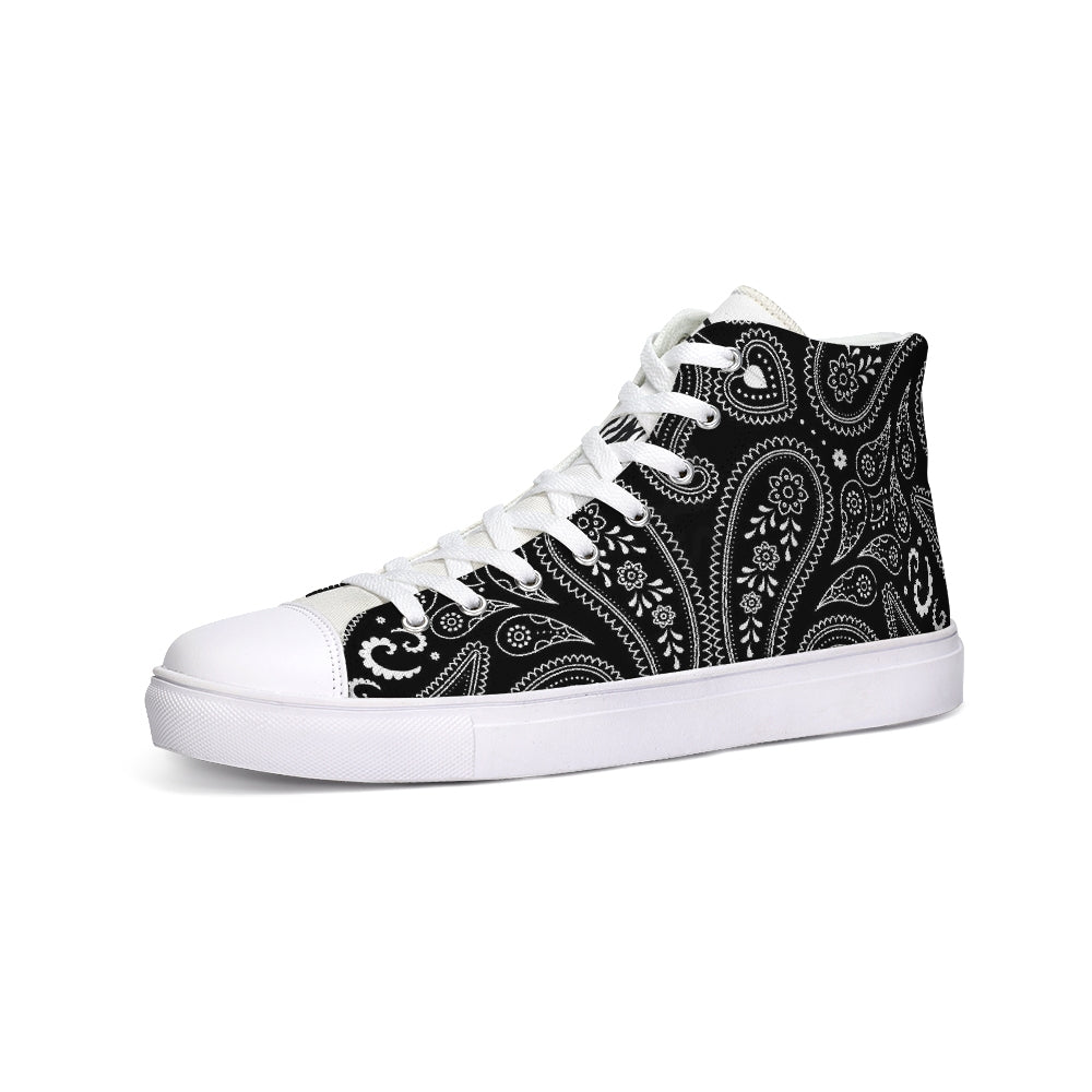 Paisley  Hightop Canvas Shoe