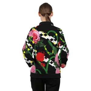 Pink Floral Women's Windbreaker