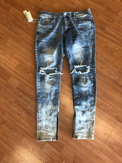 Roses Will Rise Denim Joggers