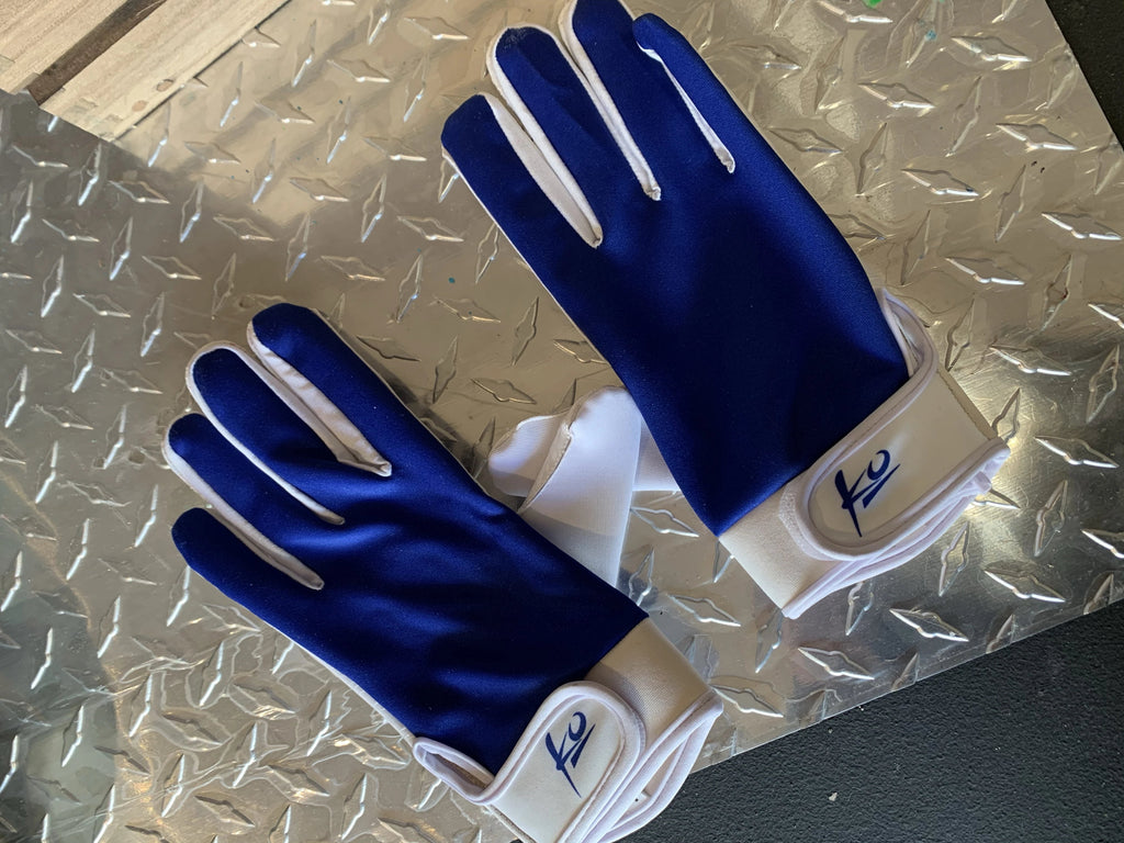 K_o Blue Receiver Gloves Size Large