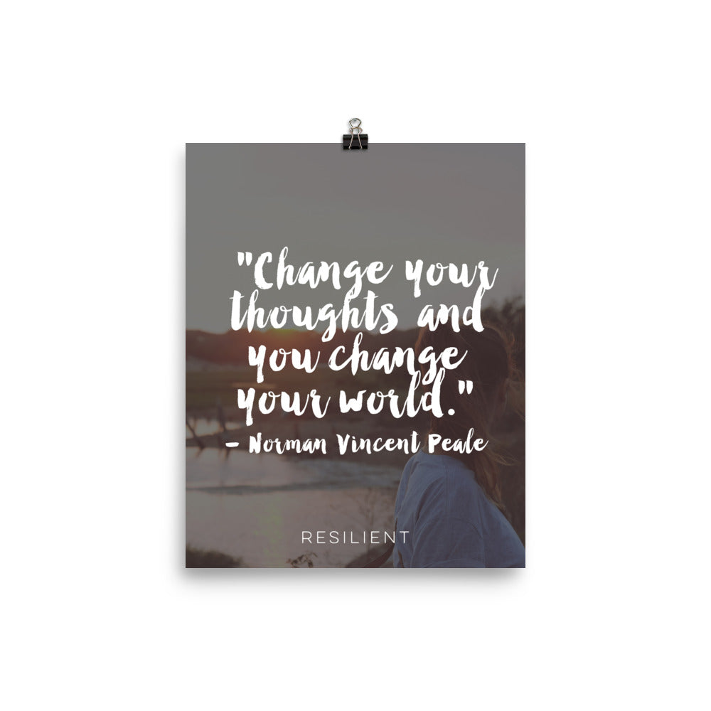 Change Your Thoughts Quote Inspirational Poster