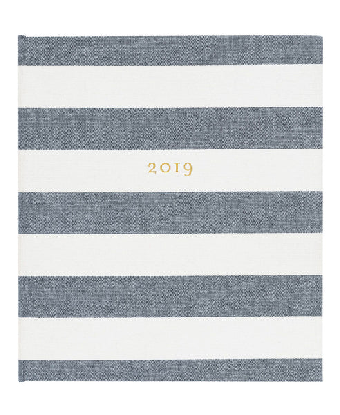 2019 Chambray Stripe Planner
