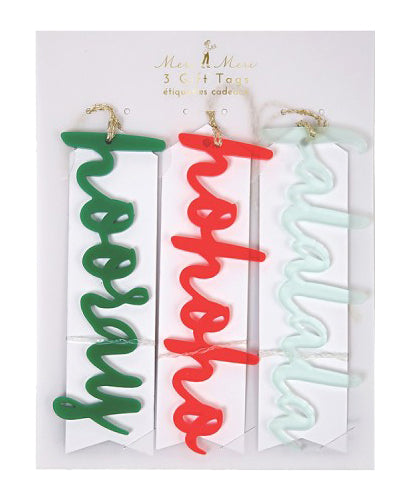 Acrylic Words Tag Set
